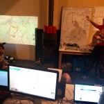 Team briefing at Legends Trails HQ, Belgium Ardennes