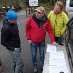 In the field team discussion on Ranger Ultras' Peak District South To North race